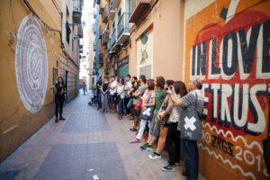 Una de las Visitas guiadas por el tubo de Zaragoza
