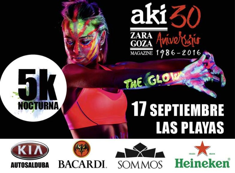 Carrera fluorescente The Glow Run AKI Zaragoza