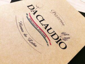 Pizzería Da Claudio horno de leña carta