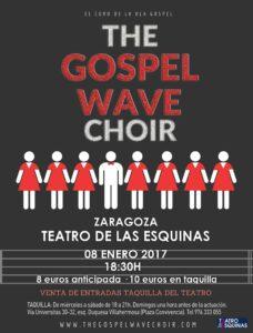 Cartel del concierto de gospel de The Gospel Wave Choir