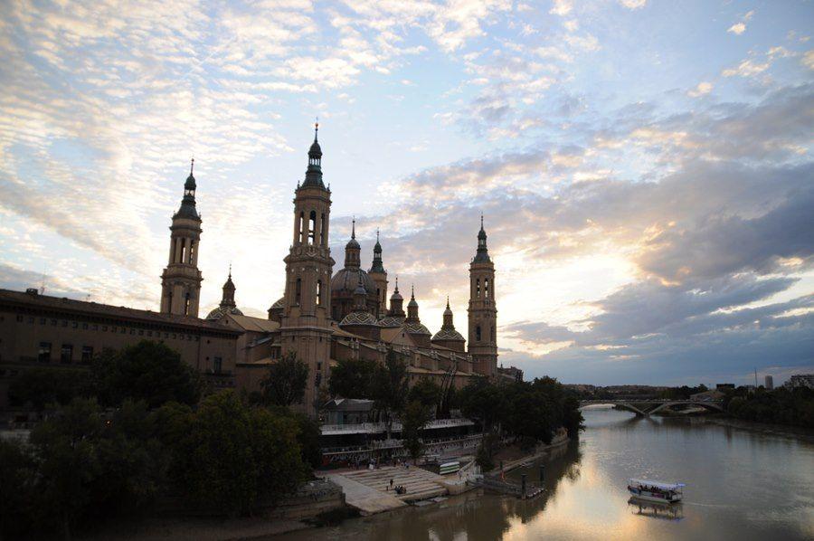 Vista del Ebro y basílica del Pilar, Zaragoza